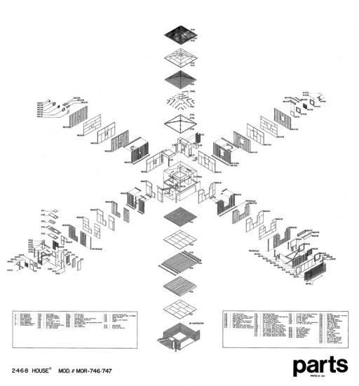 2-4-6-8 House Parts Drawing | Morphopedia | Morphosis Architects