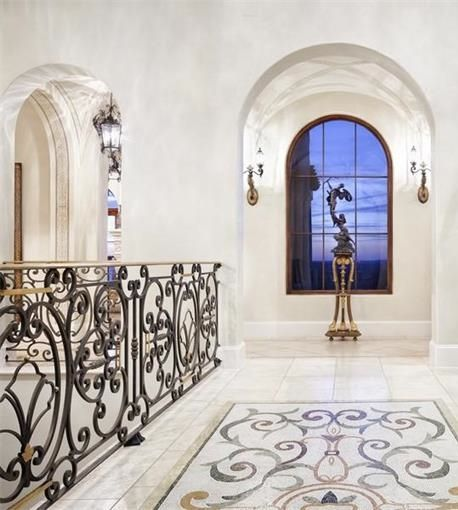 Beautiful Iron Work And Design On Floor Matches The