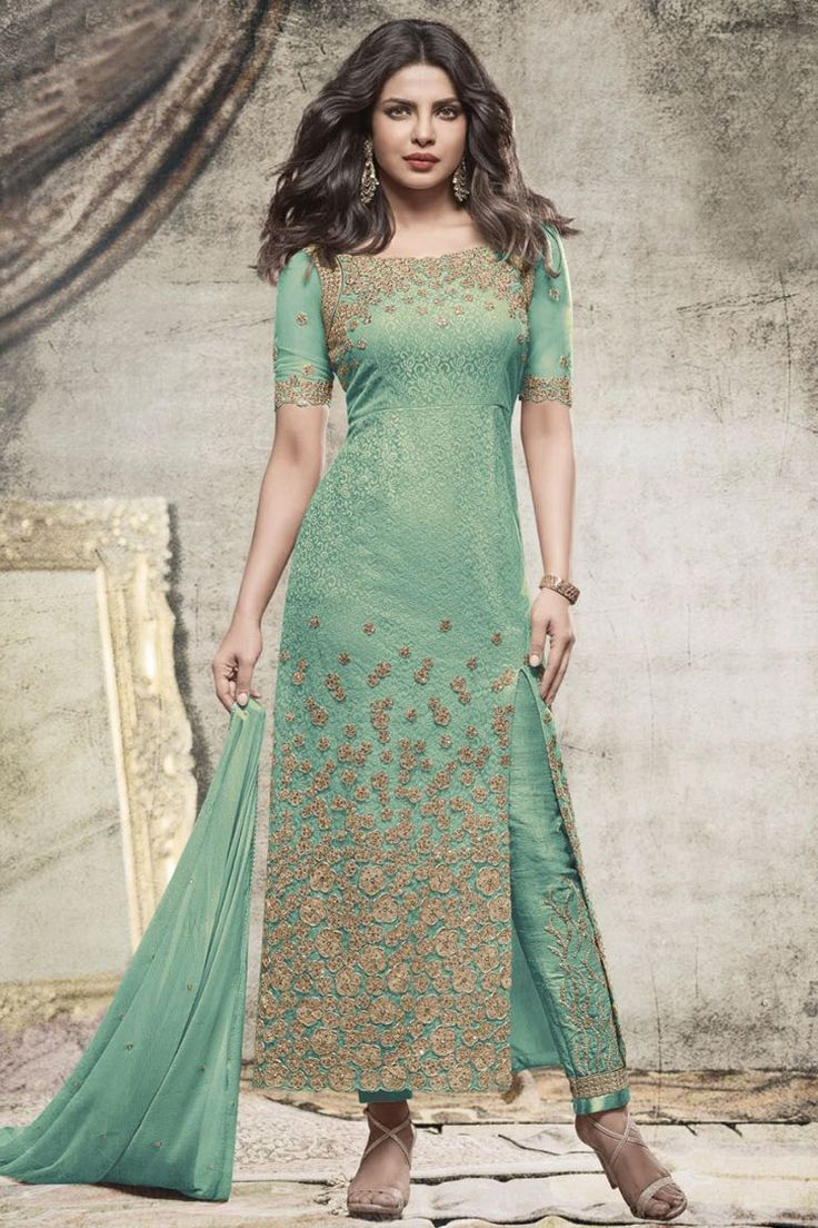Green Party Wear Priyanka Straight Net Bollywood Designer Salwar Suit  #green #partywear #Straightsuit #pantstylesuit #indiandesigner #actress #bollywood #embroidered #fashion #indianwear #salwarkammez #colorcarnival #model #fashion #latestdesign #latestdesigner #dressmaterial #bridal #pakistanisuits #brides #Malaysia #Canada #dresses #suits #London #UK #USA #Germany #Saudi #France #Jordan #Saudi #Netsuits #Bollywoodfashion