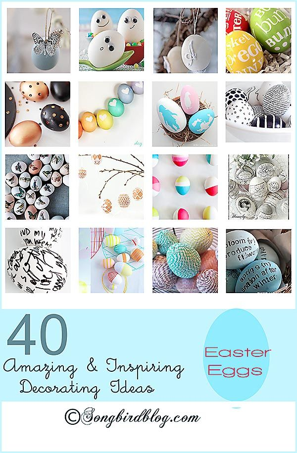 40 Easter Egg Decorating Ideas