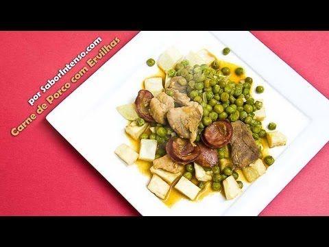 Receita de Carne de Porco com Ervilhas