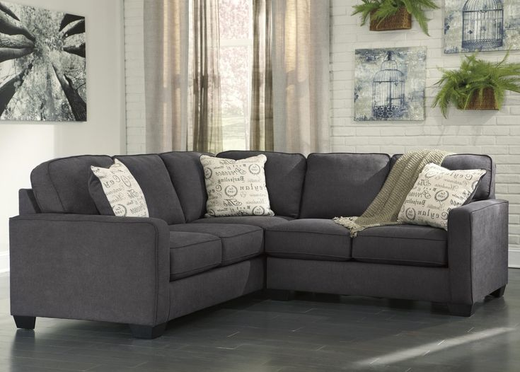 Best Alenya Charcoal 2 Piece Sectional With Right Loveseat By 640 x 480
