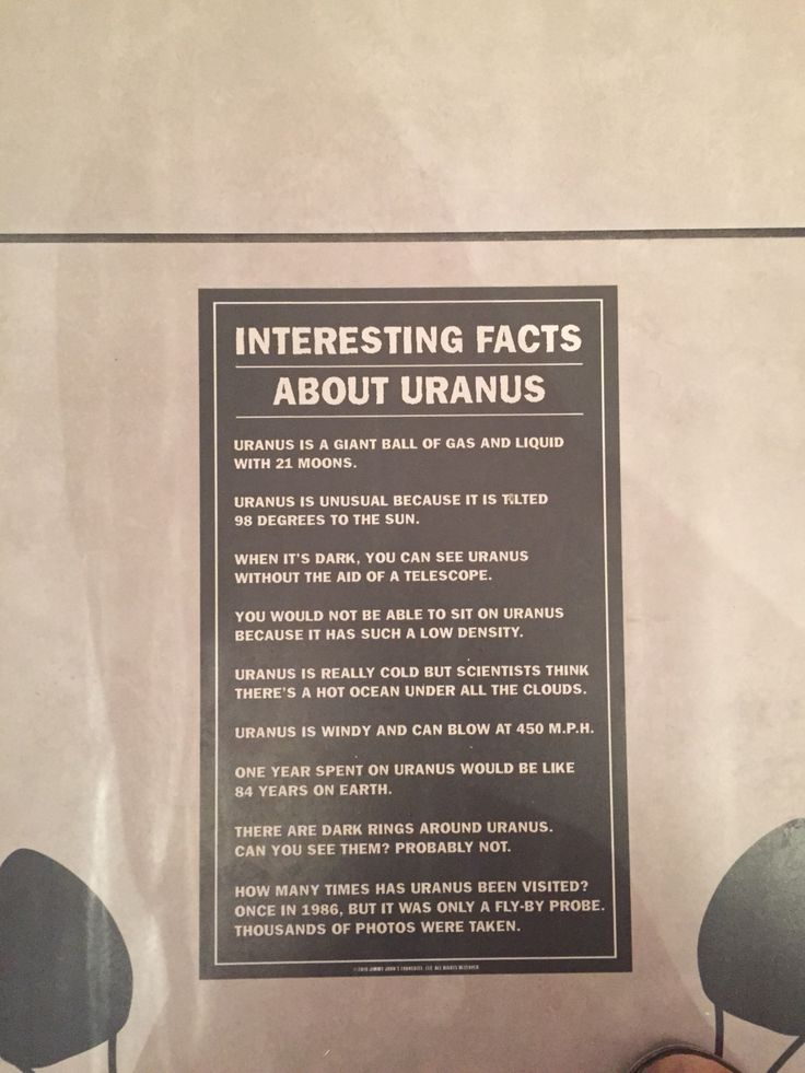 Found this at jimmy johns Bathroom just under the toilet fun facts about Uranus lol