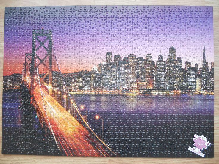 """""""KS Games San Francisco Bridge at Sunset 1000 parça"""" Hazır yapılmış ve yapıştırılmış çerçeveye hazır puzzle Aynı gün kargo!  Satın almak ve fiyat bilgisi için ürün görseli üzerine tıklayın lütfen..!!"""