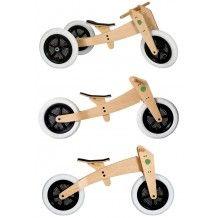 De Wishbone Bike, je begint op drie wielen en eindigt op 2, drie standen, één fiets.