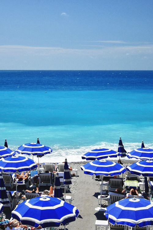 Nice, France French riviera, what lovely blues...