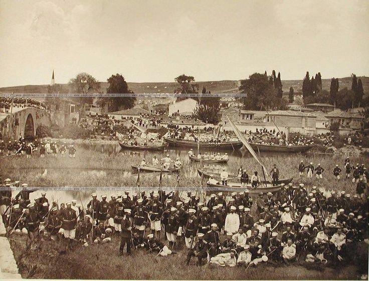 Rus arşivinden 138 yıl önce İstanbul 2.resim  - Tarihi Küçükçekmece Köprüsü ve çevresindeki Rus birlikleri