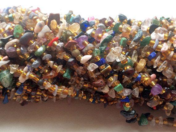 Multi Gemstone Chips Multi Gemstone Beads Disco by gemsforjewels