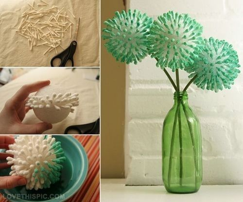 Diy Q Tip Flower Cute Crafts Ideas Craft Do It