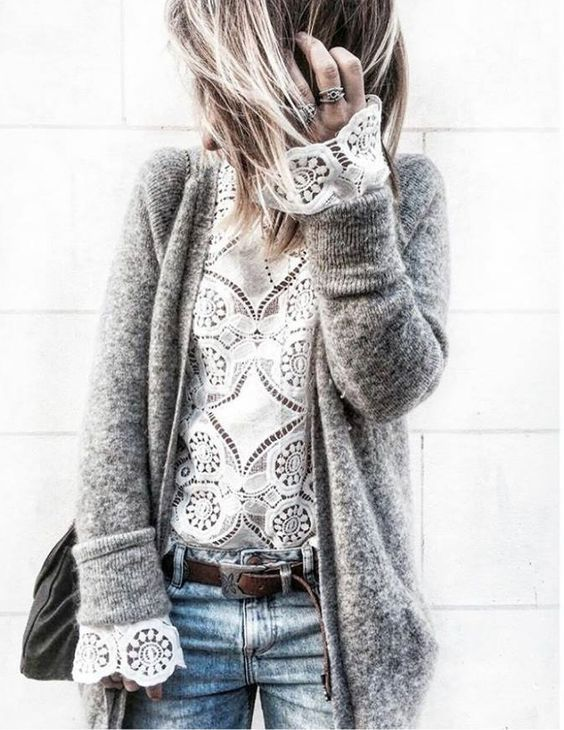 Beauty in fall styles. Lace for all year round!