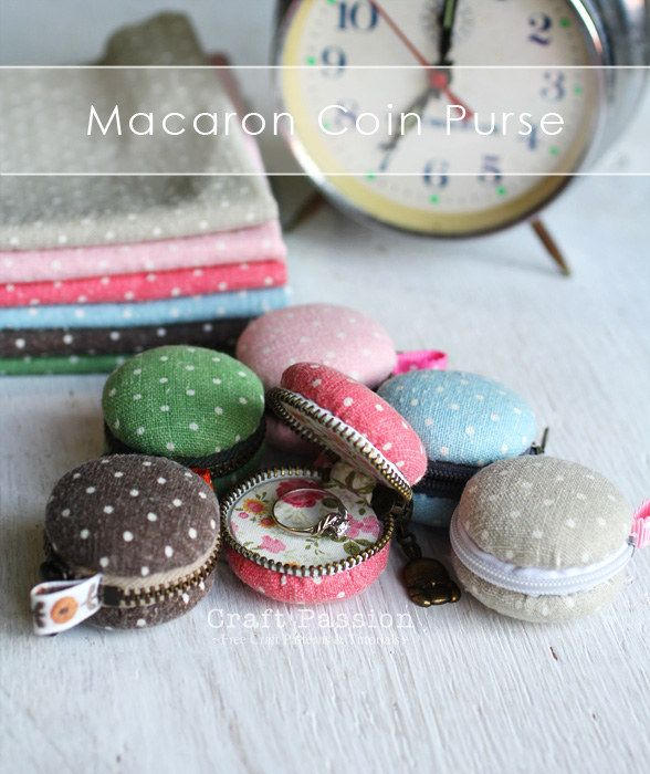 Keep your coins in a DIY purse that looks like a macaron.