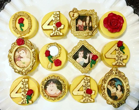 Loving these Beauty and the Beast Chocolate Covered Oreos off Etsy!