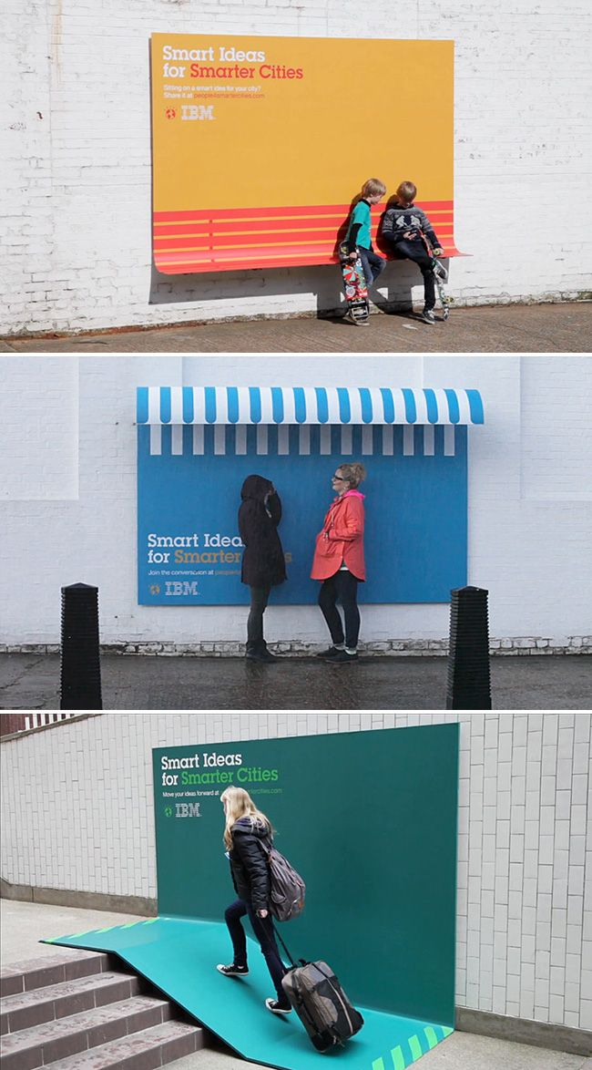 YES. functional billboards / by IBM and Ogilvy
