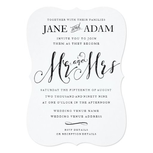 241 Best Images About Mr And Mrs Wedding Invitations On Pinterest