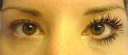 Makeup Review, Before/After Mascara Comparison Photos: Rimmel Scandal Eyes Show Off Mascara -- Best Drugstore Lengthening 2013