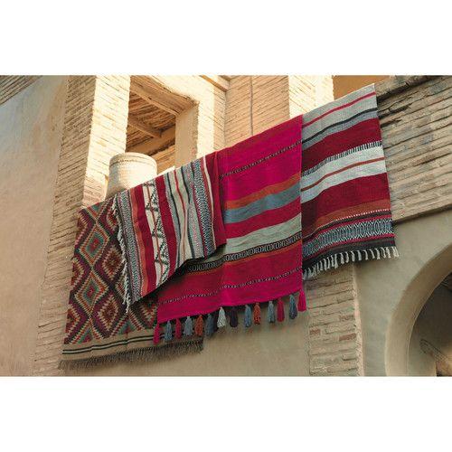 tapis tress en laine multicolore acapulco maisons du monde with tapis maison du monde. Black Bedroom Furniture Sets. Home Design Ideas