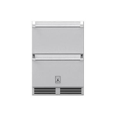 Hestan 24-inch 5.2 Cu. Ft. Stainless Steel Outdoor Refrigerator Drawers - Two