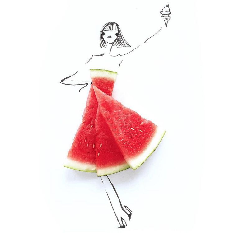 Gretchen-Roehrs-illustrations-6 #watermelon #pixiemarket #fashion @pixiemarket