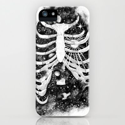 Space inbetween the ribs iPhone & iPod Case by Natalie Murray - $35.00