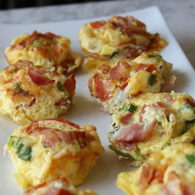 Egg, Prosciutto, & Chive Omelet Muffins | Recipe | Prosciutto, Mini ...