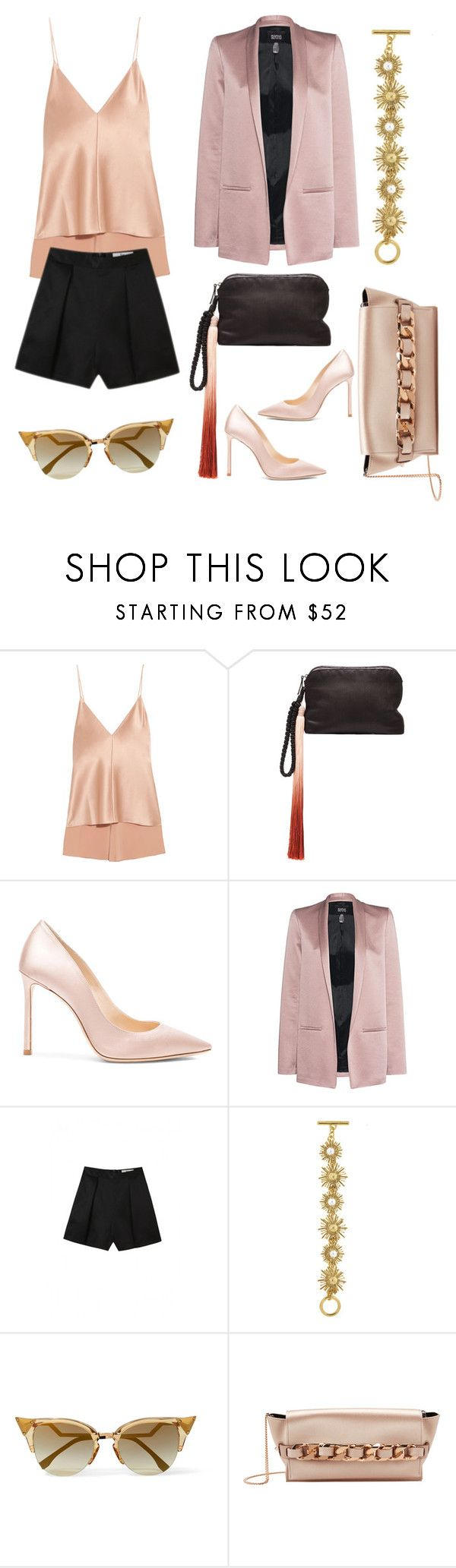 """Full"" by na-ty-1 ❤ liked on Polyvore featuring Juan Carlos Obando, The Row, Jimmy Choo, SLY 010, Oscar de la Renta, Fendi and Elena Ghisellini"