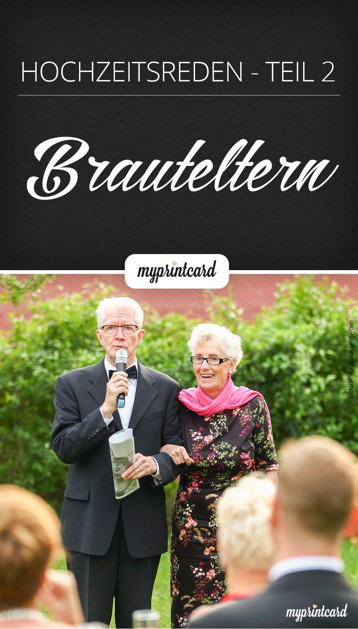 Bei den Hochzeitsreden sprechen die Brauteltern traditionell zu erst. Wie aber…