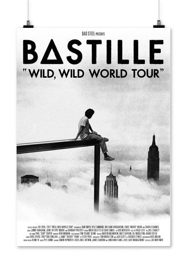 "A2 ""Wild, Wild World Tour"" screen print on 270gsm Mohawk Superfine paper. Dimensions: 420 x 594(mm)"