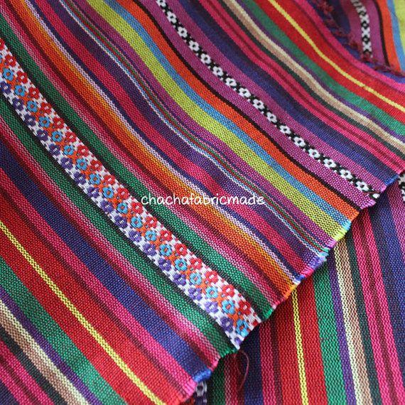Tribali tessuto tessuto etnico azteco tessuto di ChaChaFabricMade
