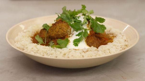 Eén - Dagelijkse kost - Indische gehaktballen met rijst