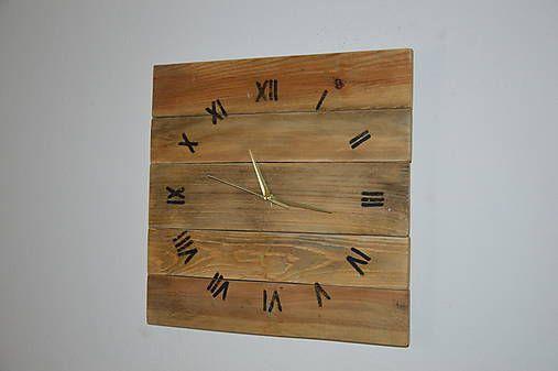 PalletWood / Drevené hodiny Prírodné