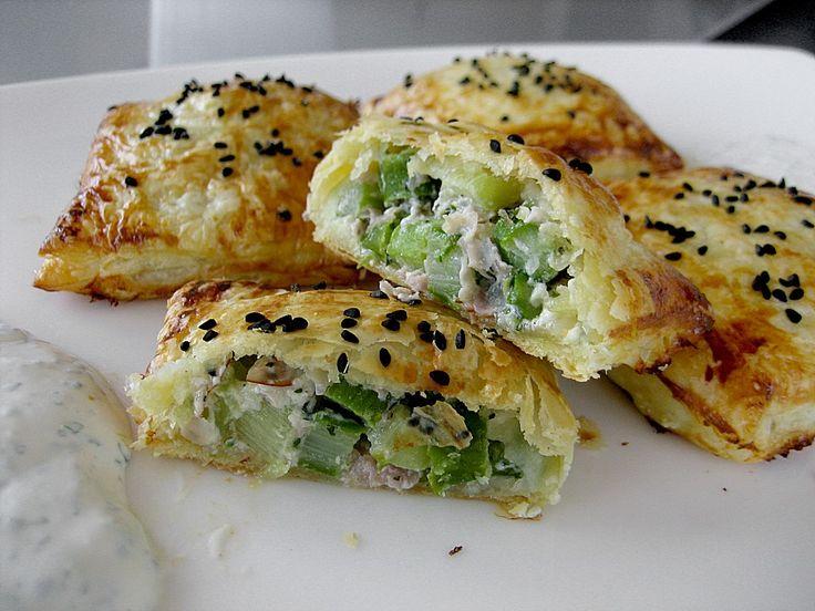 Blätterteigtäschchen mit Spargel - Prosciutto - Mascarpone - Füllung