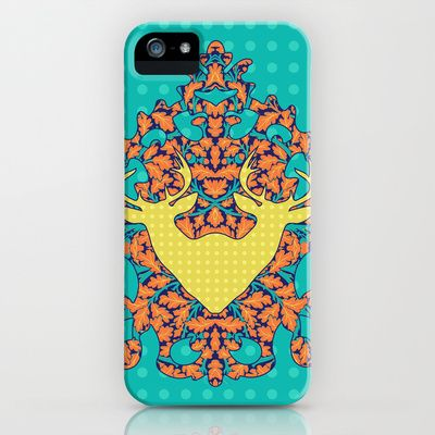 Climbing Waltz : Twins on Blue iPhone & iPod Case by Geetika Gulia - $35.00
