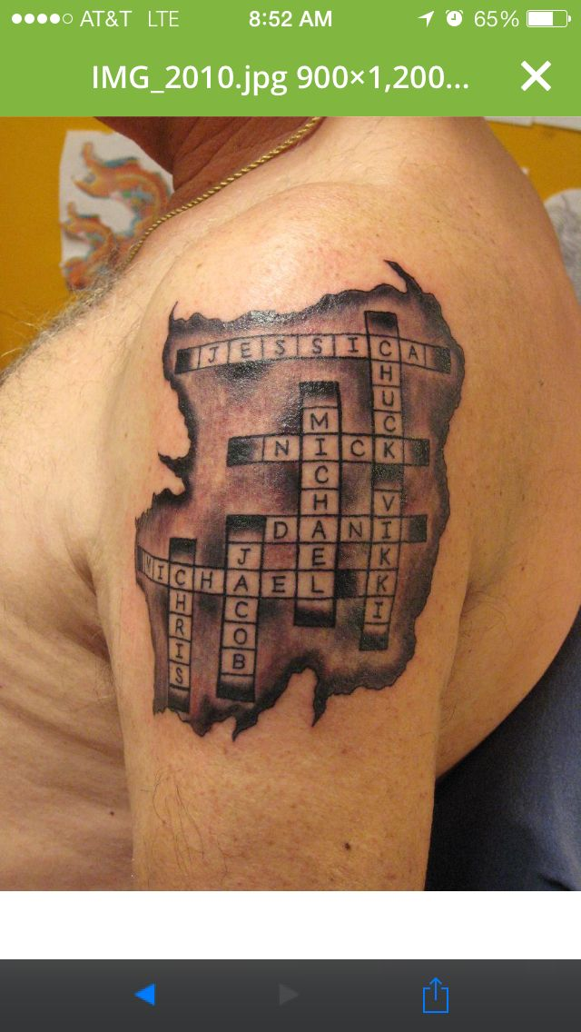 Crossword Name Tattoo | Tattoos | Pinterest | Names, Name ...