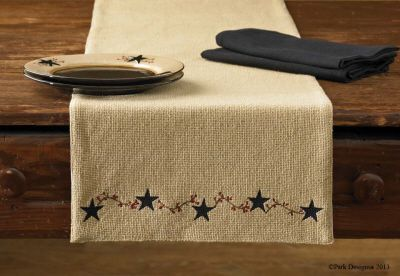 Burlap Star Table Runner by Park Designs #parkdesigns