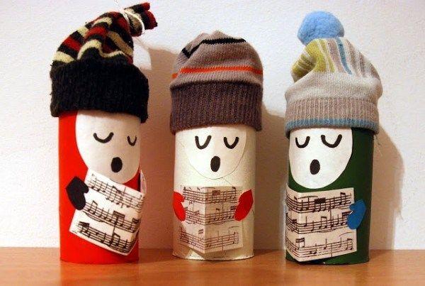 Новогодние поделки из картонных рулонов от туалетной бумаги | Погремушки