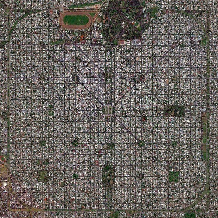 Satellite map of La Plata Argentina 7561