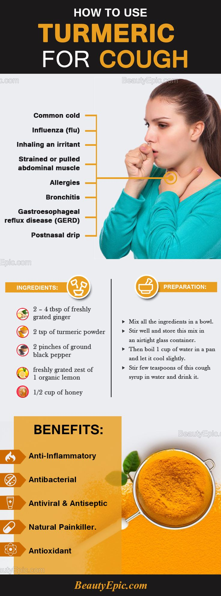 How to Use Turmeric for Cough