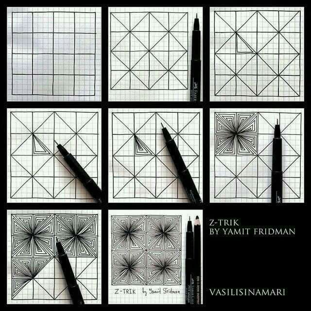 Zentangle pattern