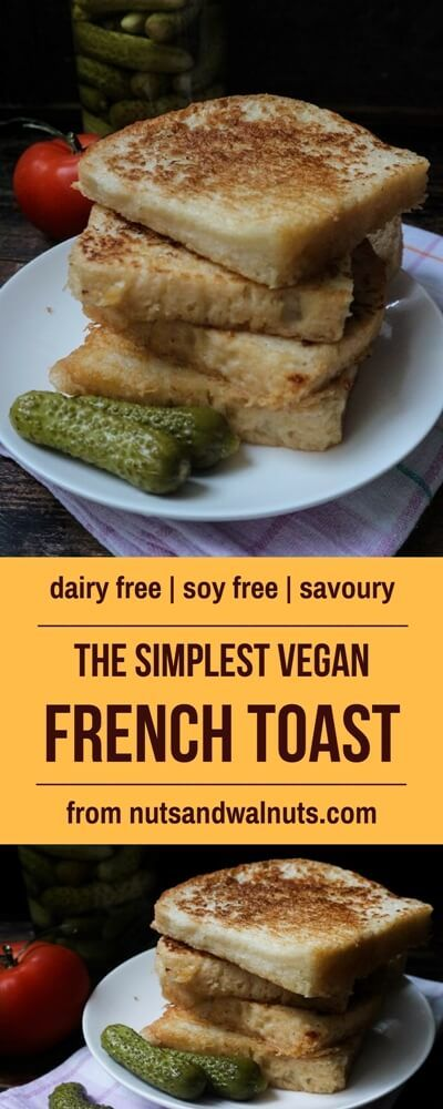 The simplest Vegan French Toast for your most delicious breakfast! Soft, warm and golden savoury slices of bread will make your day even warmer!