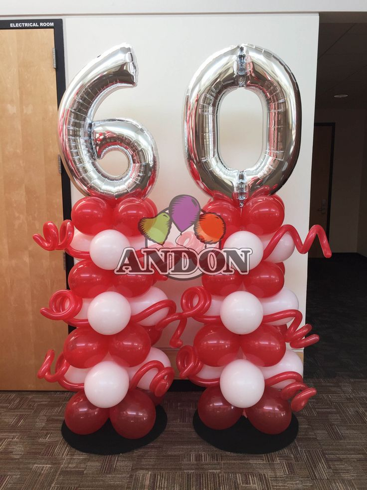 1000 images about balloon numbers on pinterest 60th for Balloon decoration classes
