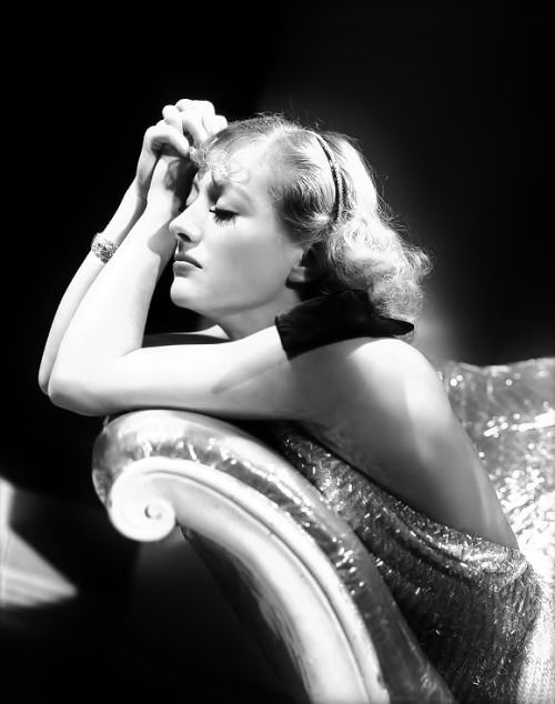 "Joan Crawford by George Hurrell, publicity portrait for the pre-code film ""Dancing Lady"", 1933."