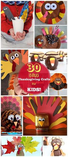 Click for 30 DIY Thanksgiving Crafts for Kids to Make | Easy Thanksgiving Crafts for Toddlers to Make