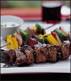 Turkish Shish Kebabs with Garlicky Tahini Recipe on Food & Wine... THE BEST LAMB RECIPE ! SOOO GOOD would eat every night if i could !