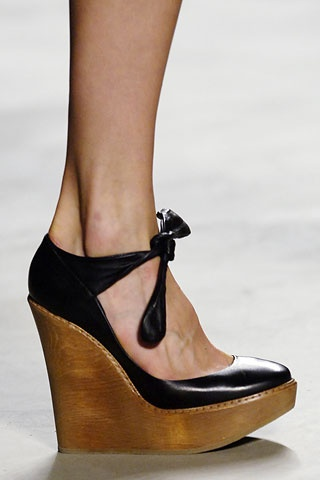 My favourite shoes ever - Chloe Leather & Wood Wedges S/S 06