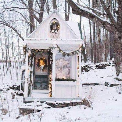 Christmas winter cabin
