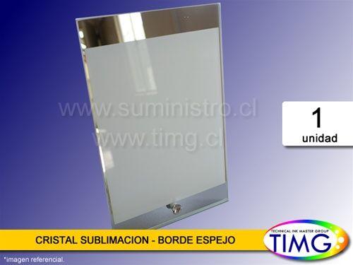 ¡Aviso de llegada! Cristal Sublimación - Borde Espejo Vertical (Cod.1063020002) Realiza los detalles originales y sorprende a todos. Contáctenos e infórmese más #TIMG #Chile # Sublimación