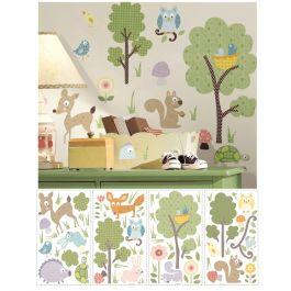 Veggdekor - skogens dyr