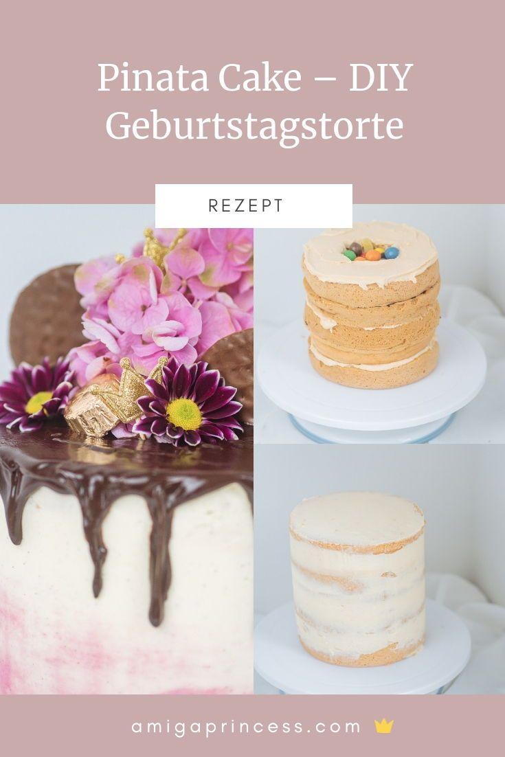Pinata Cake Diy Geburtstagstorte Mit Sussigkeiten Fullung Lykke Life Pinata Kuchen Geburtstagstorte Kuchen