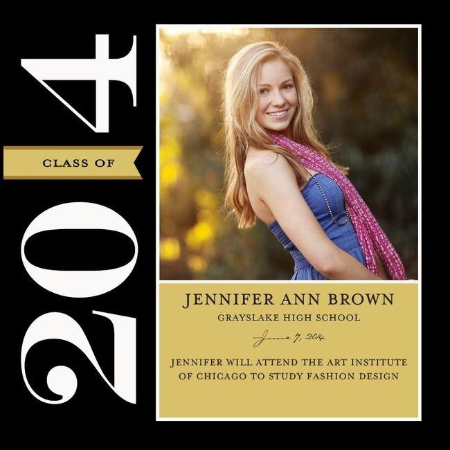 125 best graduation invitationsannouncements images on pinterest formal tag black graduation announcements filmwisefo Images