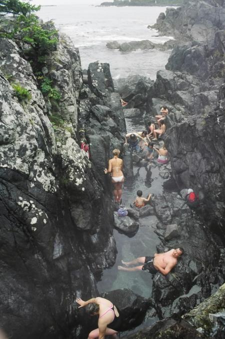 Tofino hot springs, Vancouver Island, BC, Canada